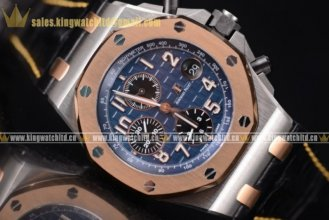 1:1 Audemars Piguet Royal Oak Offshore Chrono SS/LE Blue AP 3126 Auto (JF)