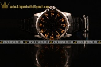 Roger Dubuis Excalibur Knights of the Round Table II SS/LE Black Jade Citizen 6T51 Manual Winding (AAAF)