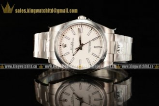 1:1 Rolex Oyster Perpetual Air King SS/SS White Clone Rolex 3135 Auto (JF)