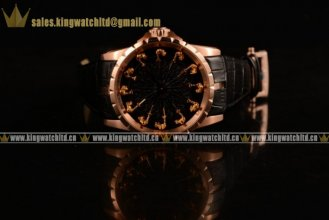 Roger Dubuis Excalibur Knights of the Round Table II RG/LE Black Jade Citizen 6T51 Manual Winding (AAAF)