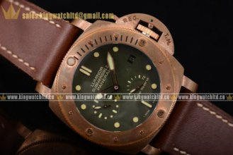 1:1 Panerai Luminor Submersible 1950 3 Days RG/LE Green P.9000 Auto (KW)